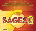 Picture for category SAGES-3 Screening Assessment for Gifted Elem and Middle School Students