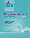 Picture of DAR™-2 Response Record Form A (15)