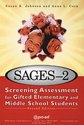 Picture for category SAGES-2: Screening Assessment for Gifted Elementary and Middle School Students