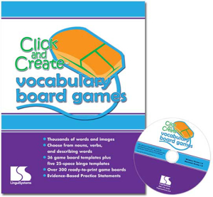 Picture of Click and Create Vocabulary Game Boards Software