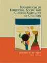 Picture for category Foundations of Behavioral,Social & Clinical Assessment of Children 6th Edition