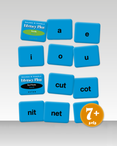 Picture of Literacy Plus Sounds and Vowels Word Playing Cards
