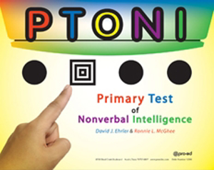 Picture of Primary Test of Nonverbal Intelligence P-TONI COMPLETE KIT