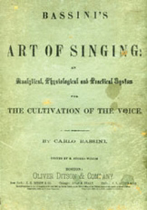 Picture of Bassini's The Art of Singing
