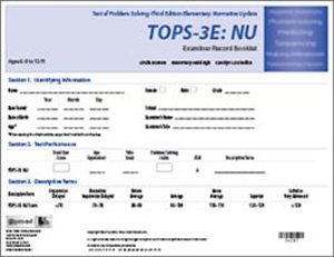 Picture of TOPS-3E:NU Test Forms