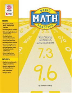 Picture of Basic Math Practice: Fractions, Decimals, and Percents