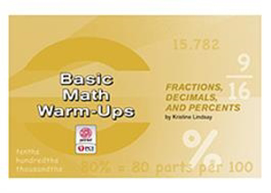 Picture of Basic Math Warm-Ups: Fractions, Decimals, and Percents