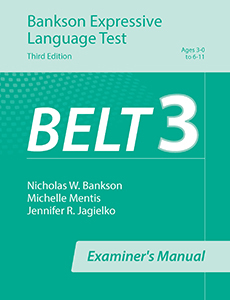 Picture of BELT-3 Examiners Manual