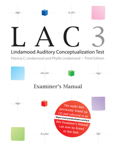 Picture of LAC-3 Examiner's Manual w/Access Code to Online Audio FIles