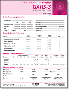 Picture of GARS-3 Summary/Response Forms (50)