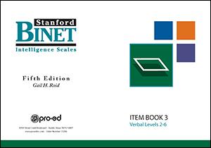Picture of SB5 Item Book 3 (Verbal Subtest)