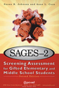 Picture of SAGES-2: Screening Assessment for Gifted Elementary and Middle School Students