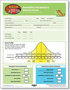 Picture of MAVA: Receptive Vocabulary Record Forms (30)