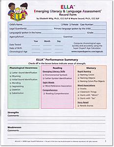 Picture of ELLA Record Forms (2 pkgs of 25)