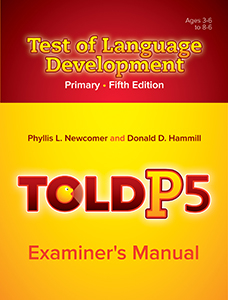Picture of TOLD-P:5 Examiner's Manual