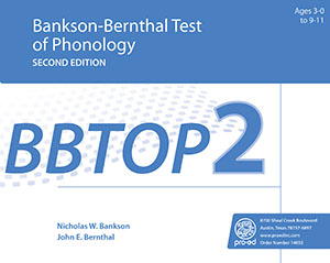 Picture of BBTOP-2: Bankson-Bernthal Test of Phonology-Second Edition
